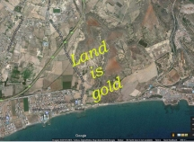 Beachfront building plot for sale on Larnaca-Dhekelia road